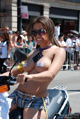 Nude girl on a scooter (LuckyBrandX) Tags: gay chicago 40th pride parade annual 2009