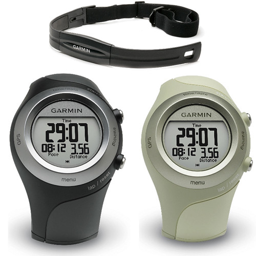 Garmin Forerunner 405 + Heart Rate GPS Watch (Black or Green)