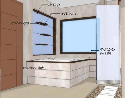desain interior kamar mandi modern model kalimantan