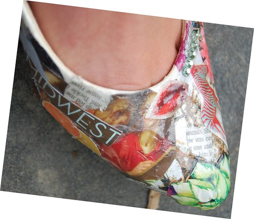 Decoupage(ish) shoes