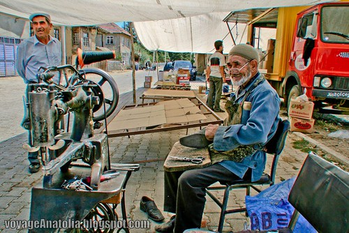 Shoe Maker of the Village Bazaar by voyageAnatolia.blogspot.com