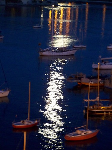 Full moon reflection on the sea