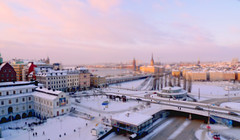 Slussen, Stockholm Tilted (Tim Bow Photography) Tags: city travel winter sunset sky orange sun snow cold color art ice water architecture clouds buildings underpass skies cityscape colours afternoon stockholm pastel january panasonic british slussen gamlastan sverige welsh portfolio guardian sodermalm svenska gondolen tiltshift lx3 psdtuts timboss81 tiltshiftstockholm guardianportfoliotimboss81 portfoliotimboss81 timbowphotography