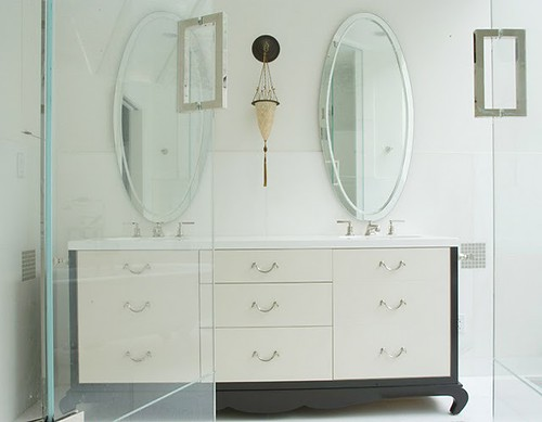 Blumenfeld Interiors asian bath vanity