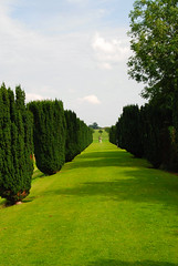 The Long Walkway at Melford Hall (antonychammond) Tags: uk england green beautiful suffolk britain tp justlikeheaven supershot melfordhall kartpostal longwalkway abigfave platinumphoto flickraward firsttheearth landscapesofvillagesandfields pathscaminhos savebeautifulearth elizabethanhistorichouse