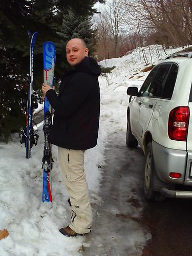 Лыжи в Снег