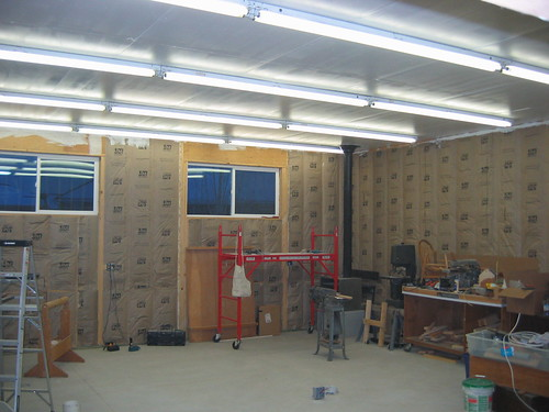 Woodshop Progress Lighting And Dust Collection Cyclone