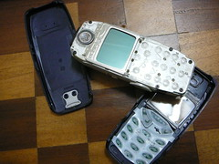Photo of Nokia 3310 with the jackets off.