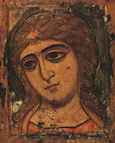 001-Icono Ruso Novgorod s. XII Arcangel Gabriel
