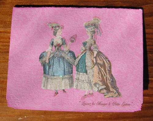 Marie Antoinette Paper Nosh card