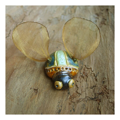 beetle - zuk (karolina-g) Tags: ceramic brooch beetle jewellery ceramika uk broszka