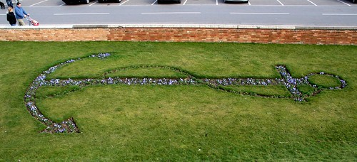 Flower Bed in the shape of an Anchor