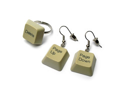 Broken Keyboard (weggart) Tags: keyboard ring earrings offbeatjewelry
