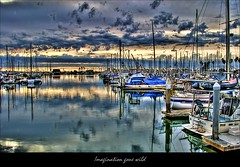 My Imagination (...-Wink-...) Tags: ocean california blue sky reflection nature water clouds marina landscape boats 1 coast harbor scenic explore shore vista thegimp fp hdr ventura scapes venturaharbor intersttingness68