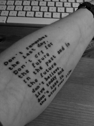 Text tattoo