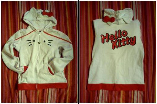 """I Am Hello Kitty"" Hoodie. Many many many thanks to Ashley who got it for me"