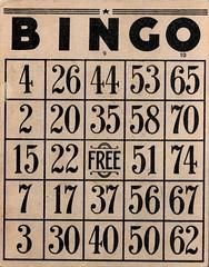 Fabulous Vintage Bingo Card