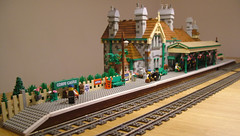 corfecastlefinished01 (bricktrix) Tags: station lego corfecastle legotrain corfecastlestation legostation legotrainstation legocorfecastle