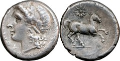 15/1 #0649-70 didrachm-litra coinage,  Apollo Horse star Didrachm