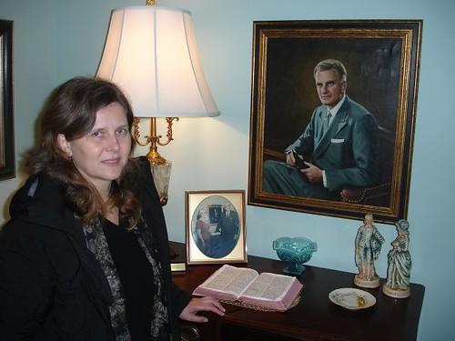 Anastasia Filat în casă la Billy Graham