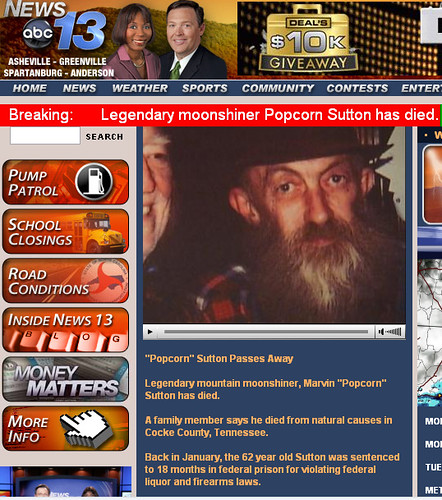 Popcorn Sutton is Dead