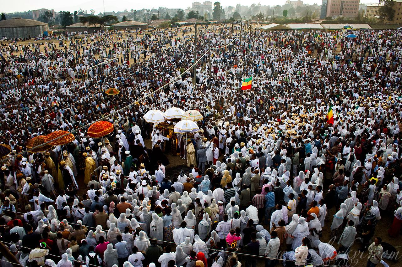 Crowd, Timkat (Epiphany), Addis Ababa, Ethiopia, January 2009