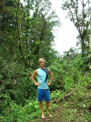 Nicolai in the rainforest. Costa Rica.