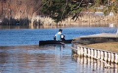 Canoe on Sturgeon River (Heart Windows Art) Tags: tree true river march log michigan preacher canoe fallen bible sensational 2009 verse sturgeonriver immersed baptized anawesomeshot thecelebrationoflife