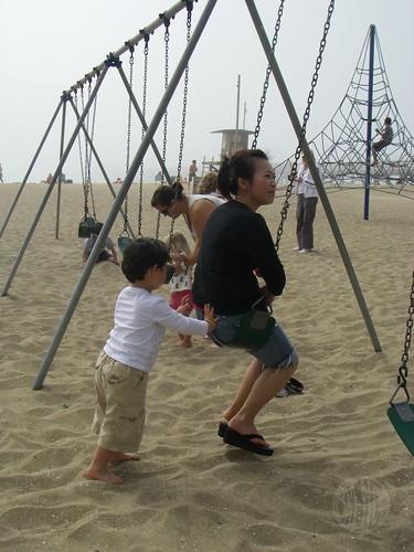 max pushing his mom