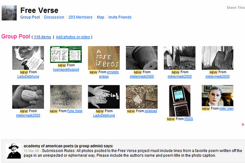 flickr free verse project
