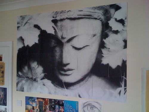 Stone Buddha, rasterbated