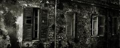 (Daniele Peruzzi) Tags: street leica old windows light urban bw abandoned photoshop lumix blackwhite rust italia shadows decay side bn ombre panasonic hardcore luci clinic bianco destroyed nero decayed dmc clinica lazio anagni finestre cs3 contrasto abbandono ciociaria tz1 roob dmctz1
