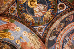 the graffiti of faith (ion-bogdan dumitrescu) Tags: church abbey painting religious graffiti mural cross faith religion ceiling christian monastery christianity orthodox fresco bitzi gorj manastire judetul polovragi ibdp mg4781mod findgetty ingcard ibdpro wwwibdpro ionbogdandumitrescuphotography