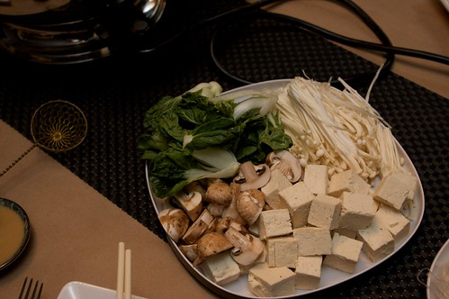 mushrooms, bok choy, & tofu