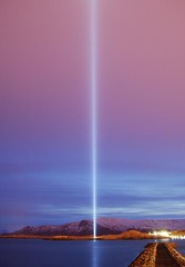 IMAGINE PEACE TOWER (Yoko Ono official) Tags: light sky cloud iceland reykjavik beam wish johnlennon geothermal yokoono viey imaginepeace kollafjrur imaginepeacetower friarslan hugsasrfri stelldirvoresistfrieden immaginalapace imaginalapaz  tufikirieniamani   bariidle    ilarawanangmundongmapayapa    kpzeldelabkt  kuvittelerauha   imaginezlapaix imaginaapaz