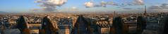 180 panorama over Paris from Arc de Triomphe (juvani photo | digital art) Tags: panorama paris lumix panasonic arcdetriomphe dmc fz50 twitter jsvn69 juvani juvaniphoto juvaniphotoontwitter wwwjuvaniphotonl 500pxcomjuvani