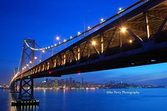 Give me the night (mrperry) Tags: sf sanfrancisco city bridge water skyline lights bay skyscrapers baybridge bluehour xavier span ybi yerbabuenaisland d40 1855kitlens givemethenight