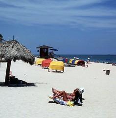 Beach At Ft. Lauderdale, FL (lhg_11, 2million views. Thank you!) Tags: sky sand nikon florida fortlauderdale beaches lifeguardtower cabanas 35mmkodachrome