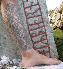 The 3D Celtic Tattoo (Needles and Sins (formerly Needled)) Tags: knotwork celtictattoo woad colindale ogham riteofpassage patfish dotwork coryferguson