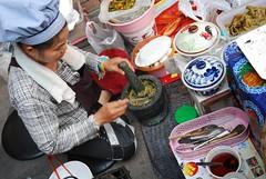 Pounding Nam Prik Pla Tu -  Night Market, Kad Suan Kaew