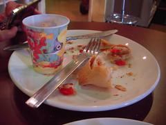 Breakfast Assasination (fontela.rockwell) Tags: breakfast cafe plate empanada