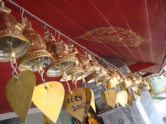 Several Mini Gold Bells with gold POH leafs  Doi Suthep Chiang Mai Thailand /   (AmpamukA) Tags: bells gold with mini several leafs poh doi suthep    ampamuka