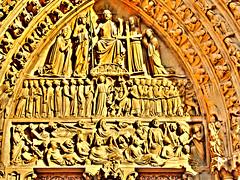 Notre Dame de Paris (Tony Shertila) Tags: door paris france church cathedral gothic explore notredamedeparis îledelacité april2009 hdrl