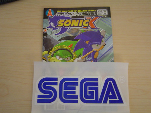 SonicX Comic and SEGA Sticker