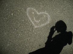 Chalk Smile (Between a rock and a far-off place) Tags: shadow smile face silhouette chalk photographer heart drawin