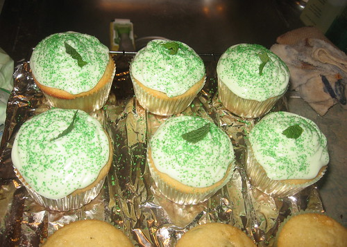 Frosted Mint Julep Cupcakes