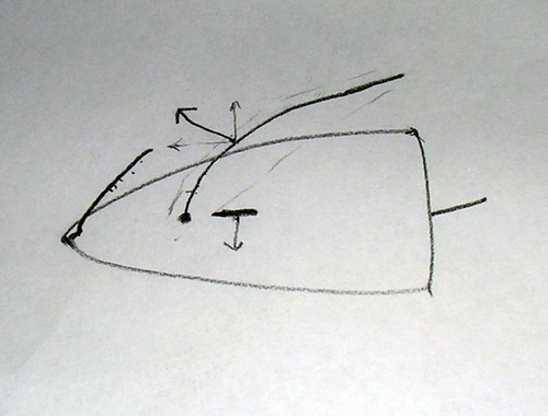 Sketch of boat