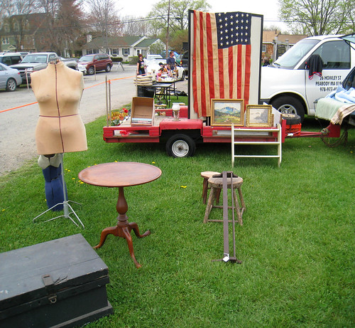Flag and Tilt Top Table@ Todd's Farm
