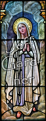 Our Lady of Lourdes (*Jeff*) Tags: church window catholic mary stainedglass northdakota lourdes hankinson