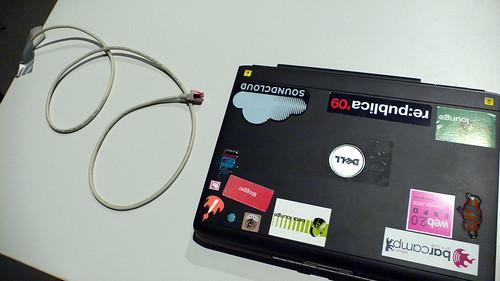 Wlan mit Kabel auf der Next09